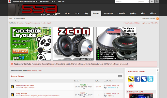 SSA Car Audio Forum